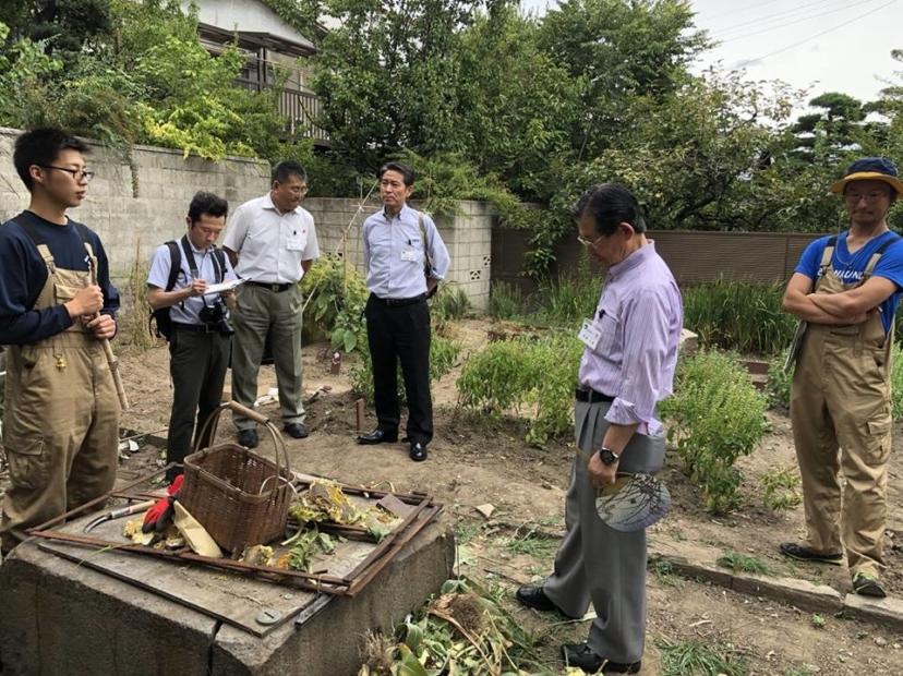 長野市長がラ・ランコントル畑に訪問